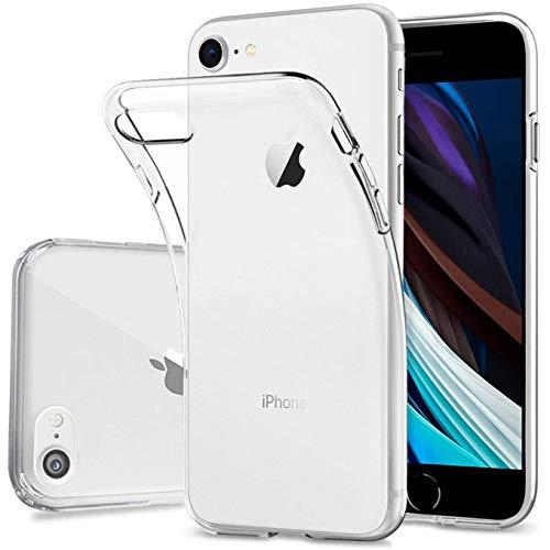Arktis Hülle für iPhone SE (2020) Transparent [Invisible Air Case] weiche TPU Silikon, Handyhülle, durchsichtige Schutzhülle [Ultra Clear] - Rückschale Transparent Klar [Case Cover] Durchsichtig