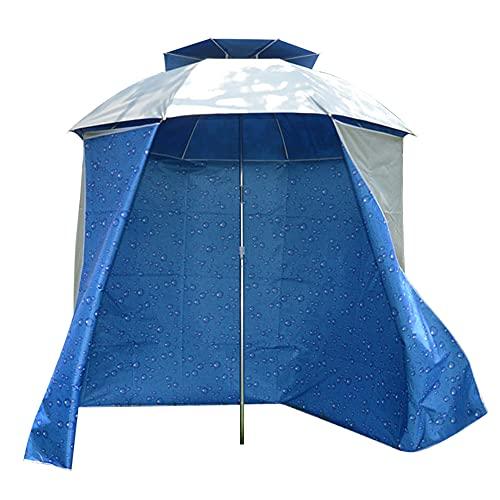 Flytise 4.8m Telo da Parete Antipioggia di ombrellone da Pesca Telo ombreggiante Pieghevole da Spiaggia Grembiule da Sole con moschettoni Panno da Parete Antipioggia