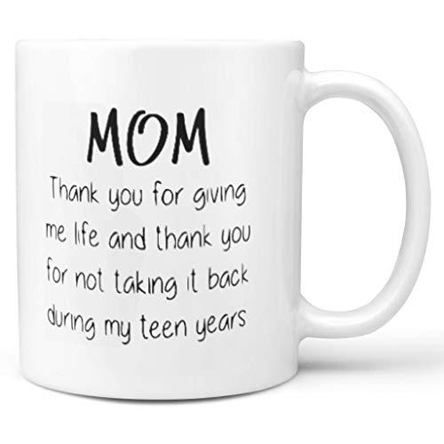 NC83 11 OZ dank u dat u Mir Leben-grappige Mamma mok geeft beker porselein funny beker - geschenken voor mama Chanukka