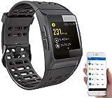 Newgen Medicals Smartwatch GPS Puls: GPS-Sportuhr, Bluetooth, Fitness, Puls, Nachrichten, Farbdisplay, IP68 (Smart Uhr)