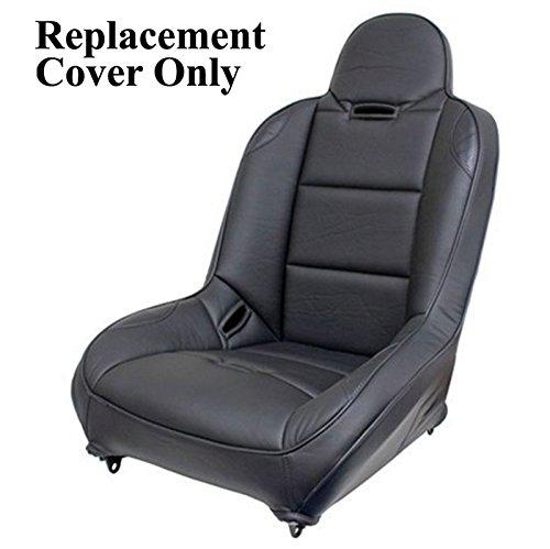 Empi 62-2777-7 Race Trim Suspension Hi-Back Seat Cover Only, Black Vinyl/Carbon