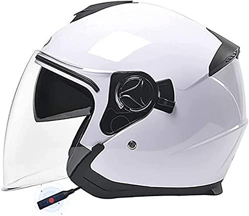 Casco Abierto Bluetooth · Motocicleta Half-Face Jet Pilot Moto Scooter Biker Retro Chopper Cruiser Vintage Bobber · Aprobado Por DOT · Casco Jet De Motocicleta H1,54-59CM