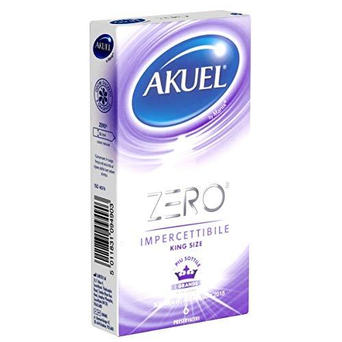 Akuel ZERO King Size - 6 extradünne XL-Kondome - 0,045mm Wandstärke (hauchdünn!) und 56mm nominale Breite
