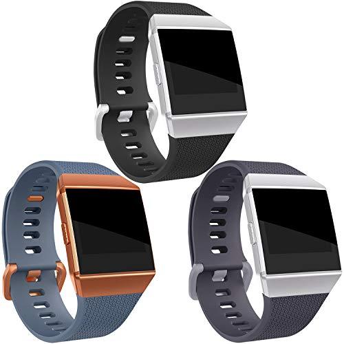 Mornex Correa Compatible Fitbit Ionic, Banda de TPU Pulsera Ajustable Recambio Deportivo Accesorio