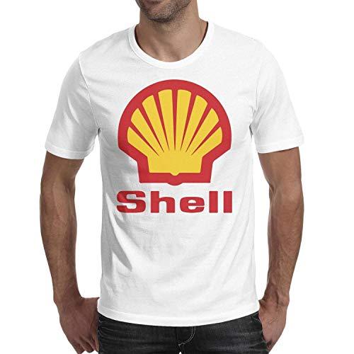 Young Men Short Sleeve T-Shirt Novelty Shell-Gasoline-Gas-Station-Logo- Gym Loose Short Sleeve T-Shirt
