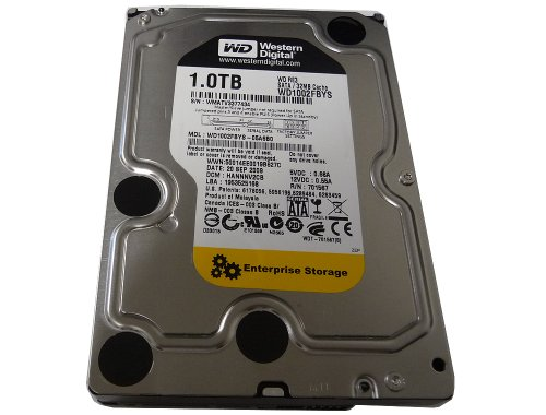 Western Digital 1 TB RE3 SATA 3 Gb/s 7200 RPM 32 MB Cache Bulk/OEM Enterprise Hard Drive - WD1002FBYS (Renewed)
