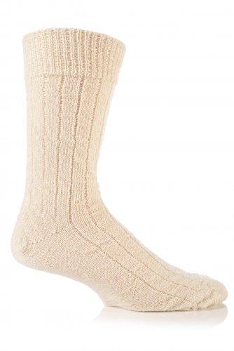 SockShop of London Herren Mohair Bettsocken - Ecru