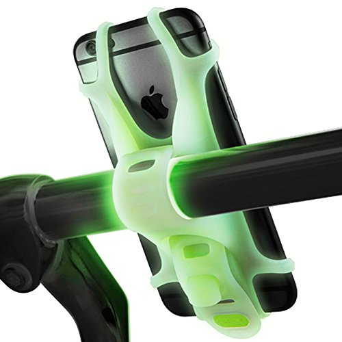 Review Mengo Lumi Bike Phone Mount Holder for iPhone, Samsung, LG, HTC – Fits All Devices with 4-6 Inch Screen (Glow in The Dark Bicycle Mount)