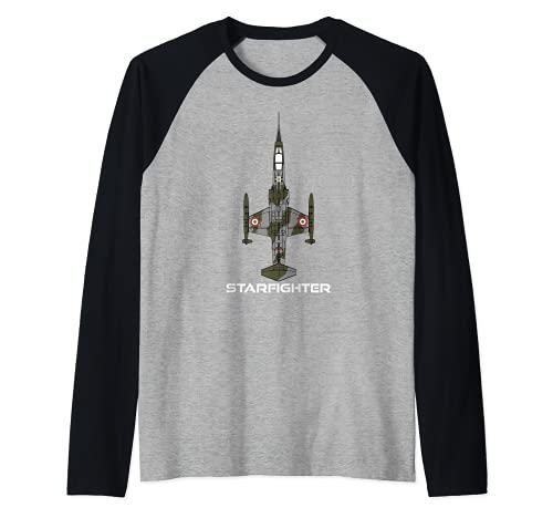 F-104 Starfighter Camiseta Manga Raglan