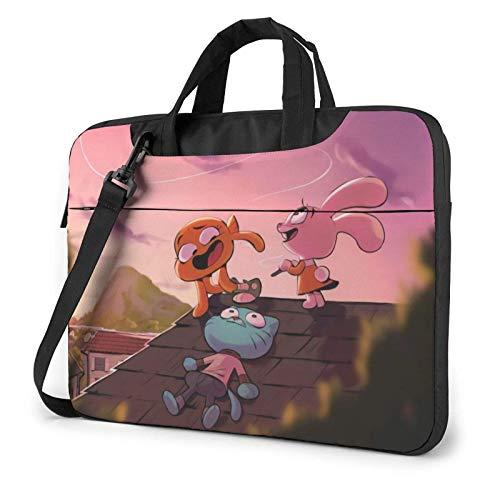 IUBBKI 13 inch Laptop Bag Amazing World of Gumball Laptop Bag Laptop Briefcase Shoulder Messenger Bag Case Sleeve