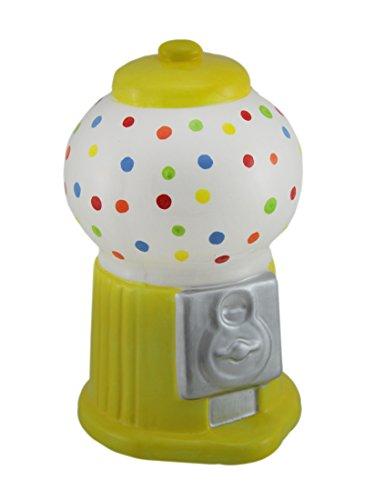 Zeckos Colorful Polka Dot Ceramic Gumball Machine Coin Bank