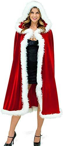 MTOML Capa roja con capucha para adulto,...