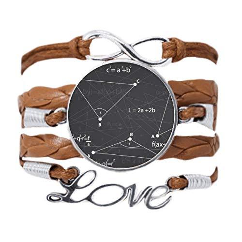 DIYthinker Grey Angle Mathematical Formula Calculus Bracelet Love Chain Rope Ornament Wristband Gift