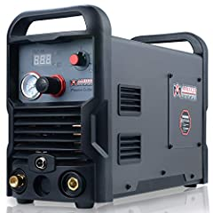 """Auto-voltage automatically adapts to 100-240V input power, plug adapters included. Torch design provides a sure, comfortable grip made from heat and impact resistant material. 50 Amp Digital Air Inverter Plasma Cutter handles cuts up to 1.0"""". Designe..."""