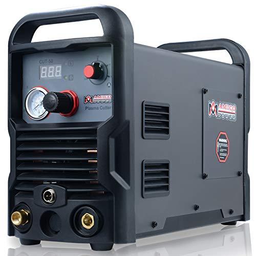 Amico CUT-50, 50 Amp Professional Plasma Cutter, 100~250V Wide Voltage, 3/4 in. Clean Cut,