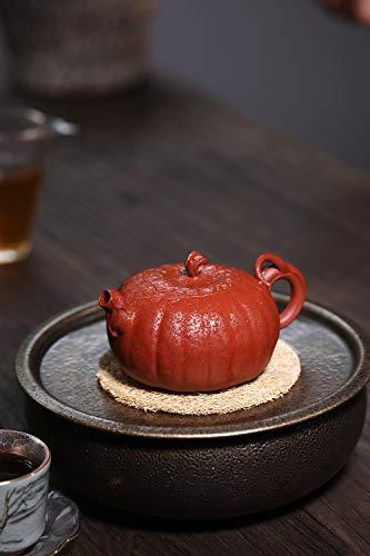 Teapot Famous Hand-bionic Device Pumpkin Fine Tea cup Clear Cement Maker Teapot CRTTRC Teapot (Color : Purple mud)