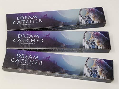 3 X Dream Catcher NEUF Lune Bâtons d'encens avec gratuit souvenir badge par Sterling Effectz