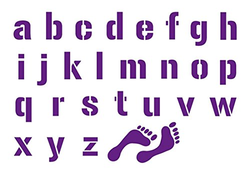 A 2 handen ADM 120-100 sjablonen A6 – letters auto's klein, wit