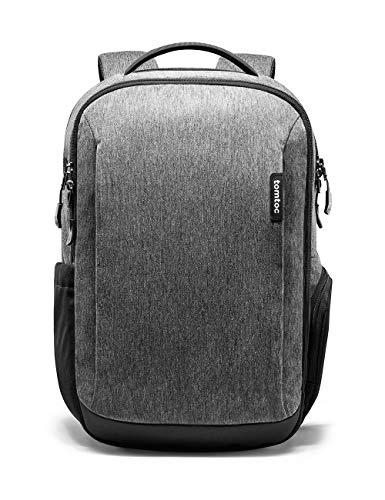 Tomtoc Reise-Laptop-Rucksack, wasserdicht, für Schule, Schule, Büchertasche, Computertasche für 39,6 cm (15,6 Zoll) Laptop, Business-Rucksack, Tagesrucksack mit vielen Taschen