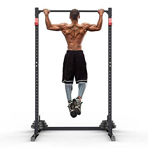Popamazing Gym Master - Soporte Ajustable para Sentadillas, Jaula de Potencia y Barra de dominadas