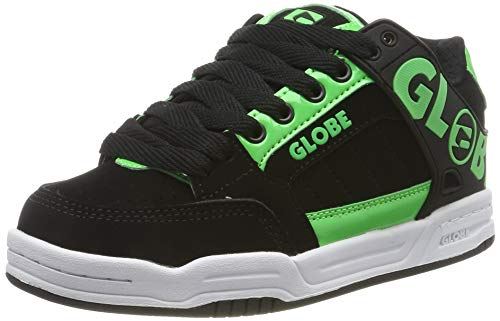 GLOBE Tilt-Kids, Scarpe da Skateboard Bambino, Verde (Poison/Black 19575), 36 EU