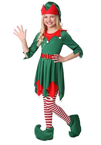 Christmas Elf Costume for Kids Santa's Helper Holiday Dress for Girls Large