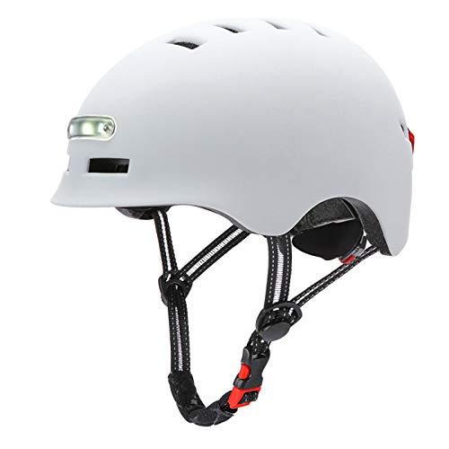 Casco de bicicleta para adultos hombres mujeres con luz USB recargable casco...