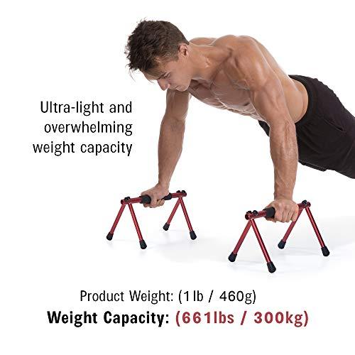 ウィズギア(Withgear)折りたたみ式デュアルプッシュアップバー-頑丈&軽量筋肉運動体操用パラレットフィットネス機器男女兼用