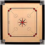 Jaysh 32 INCH Carrom Board All Age People and PROFESSIONEL Carrom and Free with Set of Coin and STRICKER and Powder Colour ( Brown))
