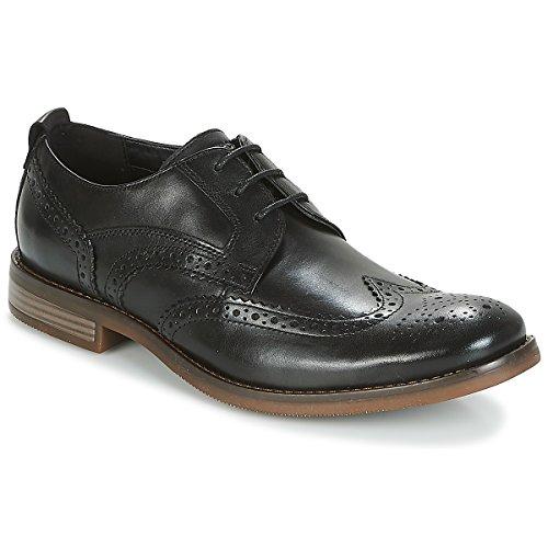 Rockport - Zapatos de Piel de Punta Wynstin para Chico Hombre (40 EU) (Negro)