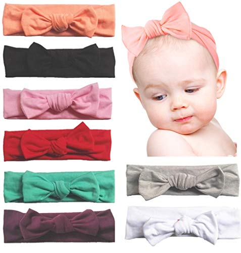 Toptim Baby Headbands Turban Knotted, Girl's Hairbands for Newborn, Toddler and...