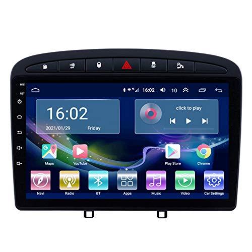 Coche Stereo Sat Nav Radio, para Peugeot (408) 2010-2016, Reproductor De DVD, Bluetooth, Dispositivo De Navegación GPS, Estéreo, Musik, 4G, WiFi, DIN-Navigatio(Size:2G+32G,Color:Octa-Core 4G)