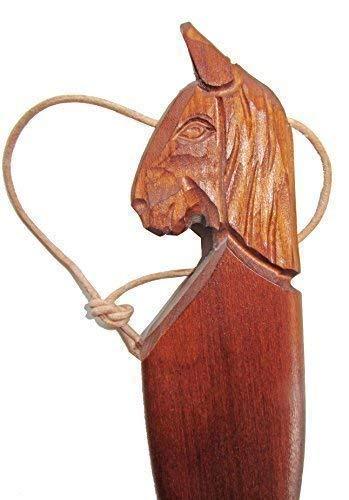 70 cm XXL Chausse-Pied Cheval Foncé Coloré Ergonomique de Forme Sculpté Nature Sculpture sur Bois Bley Empfertshausen Allemagne depuis 1835 Tradition Familiale cleanprince Pièce Unique Arts et Métiers