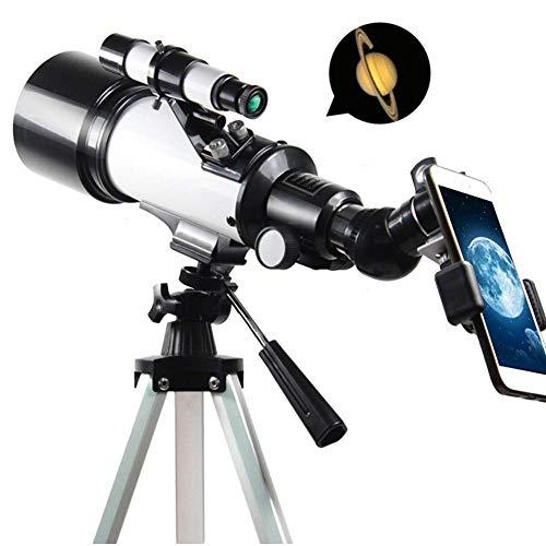 Telescopio astronómico Zoom 120X HD Ciencia educativa Refractor de Refractor Telescopio de Espacio monocular con trípode 70mm Scope Scope para niños Principiantes Song