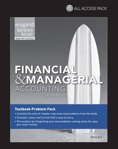 Financial & Managerial Accounting All Access Pack Print Component