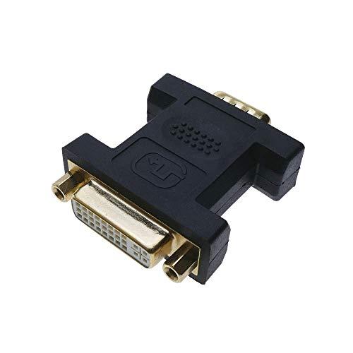 BeMatik - Adaptador DVI-I Hembra a VGA Macho de 15-Pin