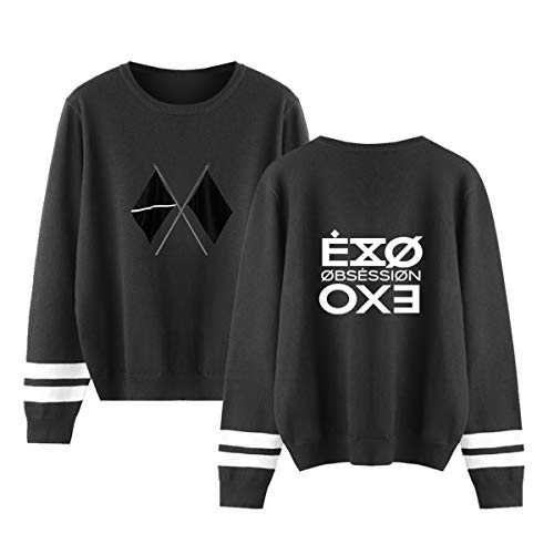 Forever Younger Kpop EXO Pullover Langärmelig Kapuzenpullover Rundhals Gedruckt Sweatshirt Pullovers Sehun Chanyeol Kai Baekhyun Xiumin Do Lay Chen (1,XXL)