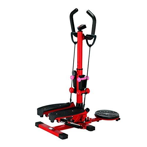 Qazxsw Mini De Pasos,Doméstico Multiuso Stepping La Pérdida De Peso De La Máquina Pedal Hidráulico De La Máquina Equipo De La Aptitud Inicio La Carga 200 Kg,Rojo,92 * 50 * 120cm