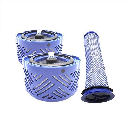 XuCesfs Lot de 2 filtres de poteau et 1 filtre de préfiltre moteur de remplacement pour aspirateur V6.
