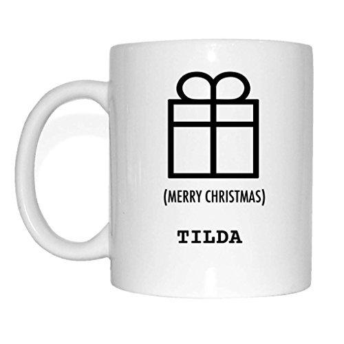 JOllify Geschenk für TILDA Tasse Becher Mug Weihnachten MX5978 - Farbe: weiss - Weihnachtsgeschenk