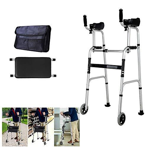 Standard Walker mit Armauflagen, 4 Walker Beine, Schlitten Pad unten, Rollstuhl Bag-Lower Limb Trainer