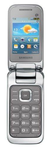 Samsung C3590 Klapphandy (GSM-Quadband,GPRS, Edge, Display 6.0 cm(2.4 Zoll)) Titanium Silber