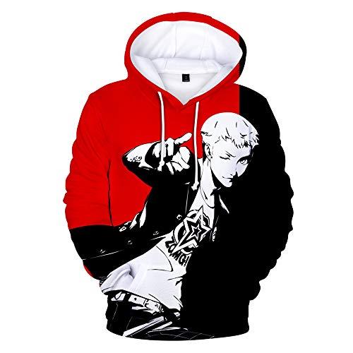 Persona Herren Damen 3D Druck Anime HD Pullover Sweater Hoodie Kapuze Kapuzenpullover Freizeit Warm Halten Sweatshirt Langarm Jumper Jacket Unisex Cosplay T-Shirt Coat Top XXL