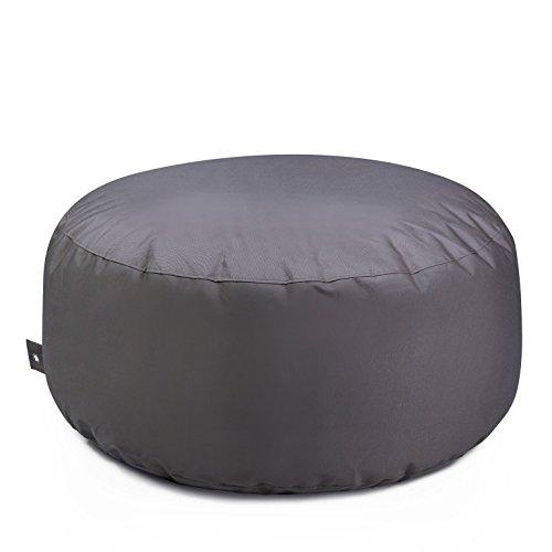 Outdoor zitzak, kruk, cake Plus, weerbestendig, vorstbestendig, tafel, tuinstoel, tuinstoel, tuinligstoel, tuinligstoel, voor buiten, lounge, tuinmeubelen, moderne look Durchmesser ca. 90 cm antraciet