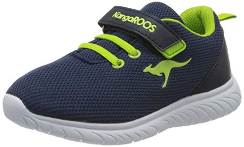 KangaROOS KI-Inlite EV Unisex Baby Sneaker, Blau (Dark Navy/Lime 4054), 27 EU