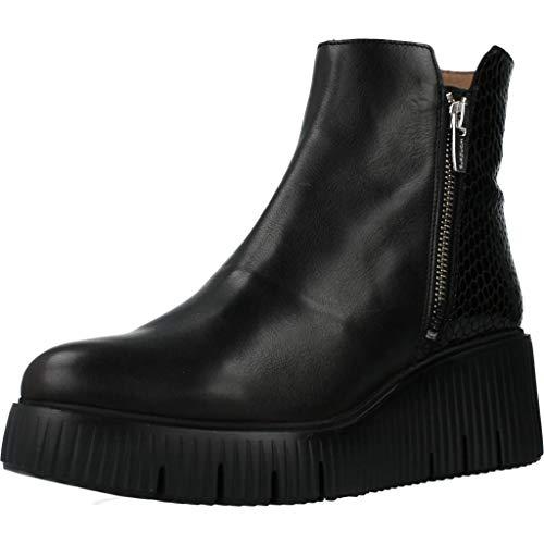 Wonders Damen Stiefelleten Boots E6224 Schwarz 41 EU