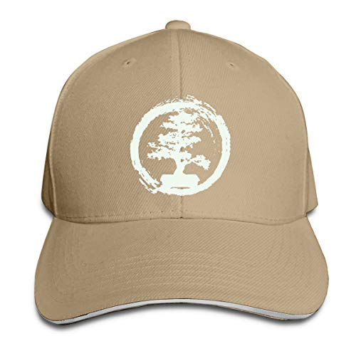 Bonsai Tree Unisex Adjustable Peaked Sandwich Cap Snapback Hats