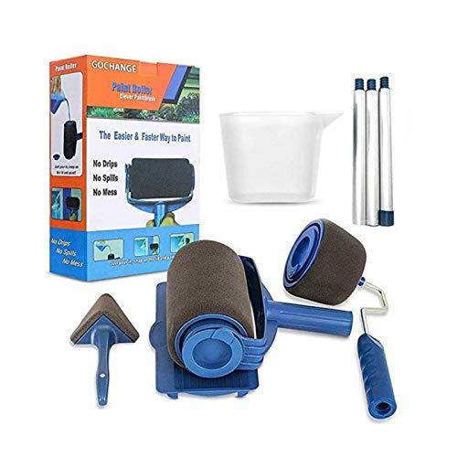 HaoGu - Rodillo de pintura, multifuncional, juego de 8 piezas, extensible, juego de rodillos para casa, escuela, oficina, pared, techo