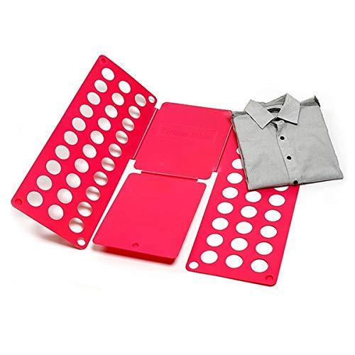 RHP Pullover Hosen Hemden Wäsche Kinder- und Erwachsen-Faltbrett Falthilfe für Wäsche Kleidung T Shirt Falten Zusammenlegen Wäschefaltbrett Hemdenfalter Wäschefalter für Kleidung Aller Art (Pink)