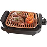 Ceramic Non Stick Smokeless Portable BBQ Indoor Barbecue Electric Grill Drip Tray Adjustable